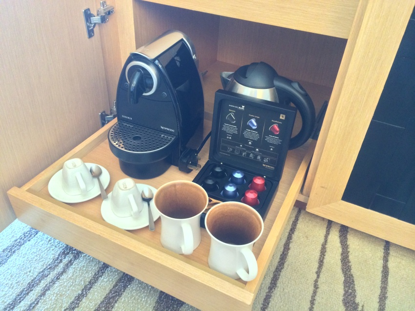 The Nespresso machine that is featured in each guest room.