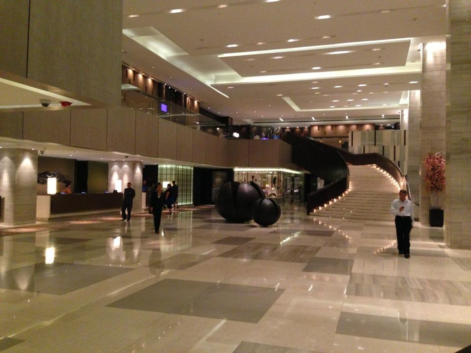 Lobby Of The New World Makati Hotel Manila Philippines