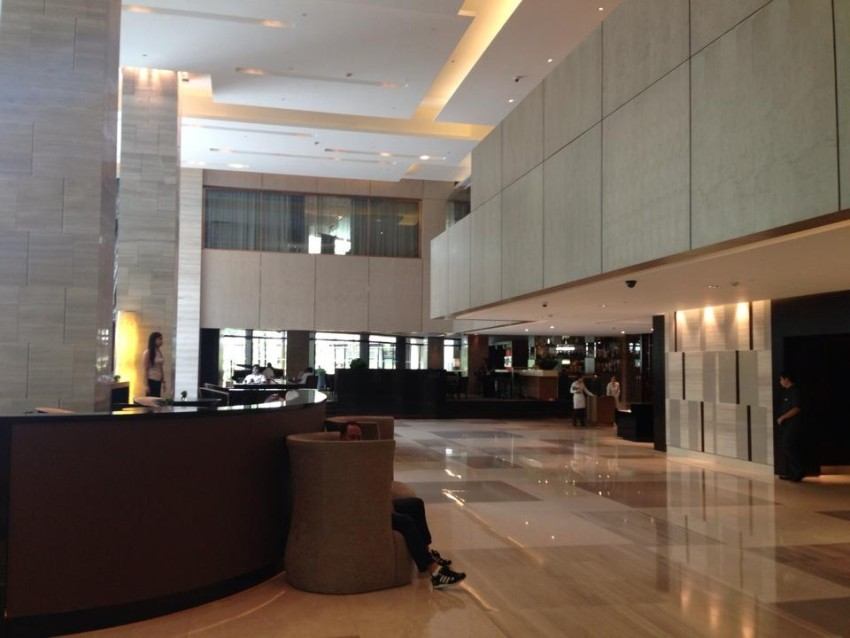 Lobby of the New World Makati Hotel - Manila, Philippines