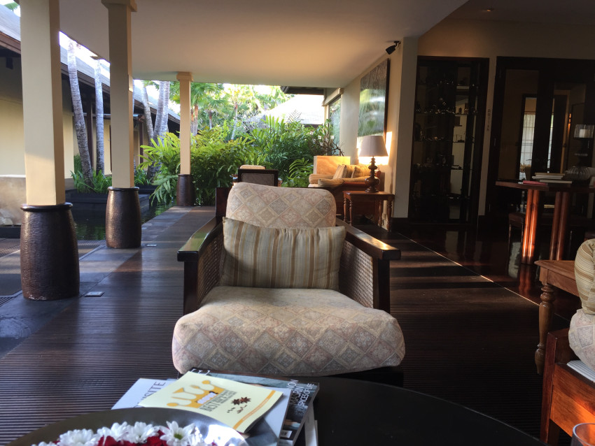 Remede spa waiting area at the St Regis Bali Nusa Dua
