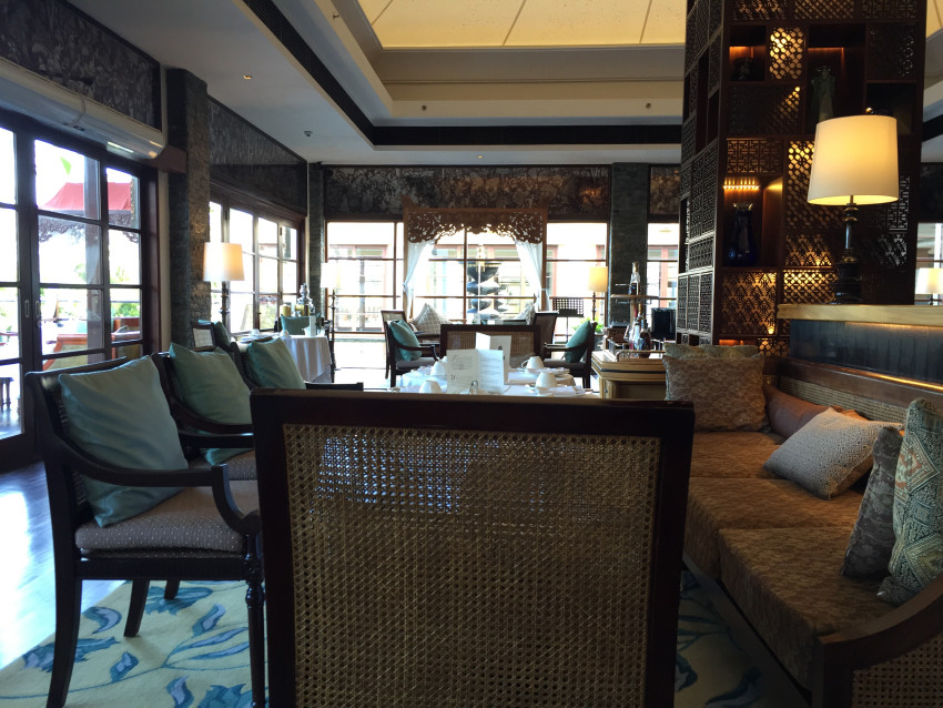 Afternoon high tea at the King Cole bar at the St Regis Bali Nusa Dua